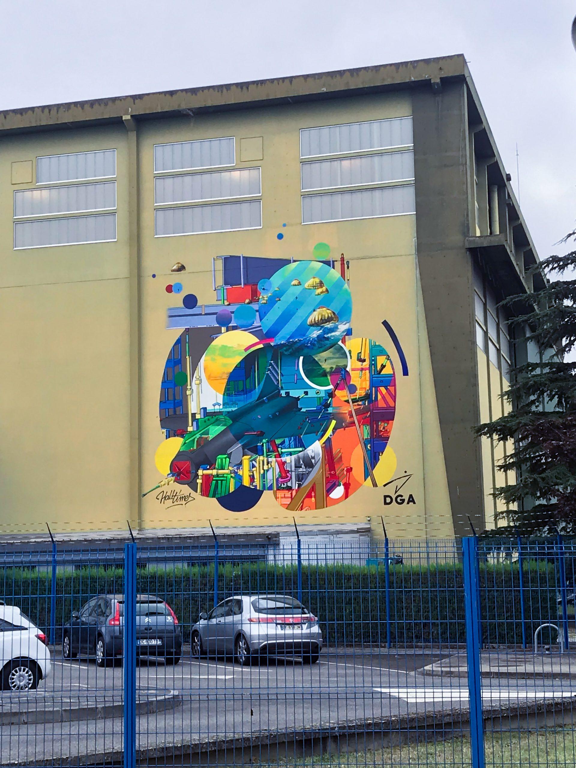 graffiti artiste graffeur toulouse halltimes julien avignon fresque dga ceat balma