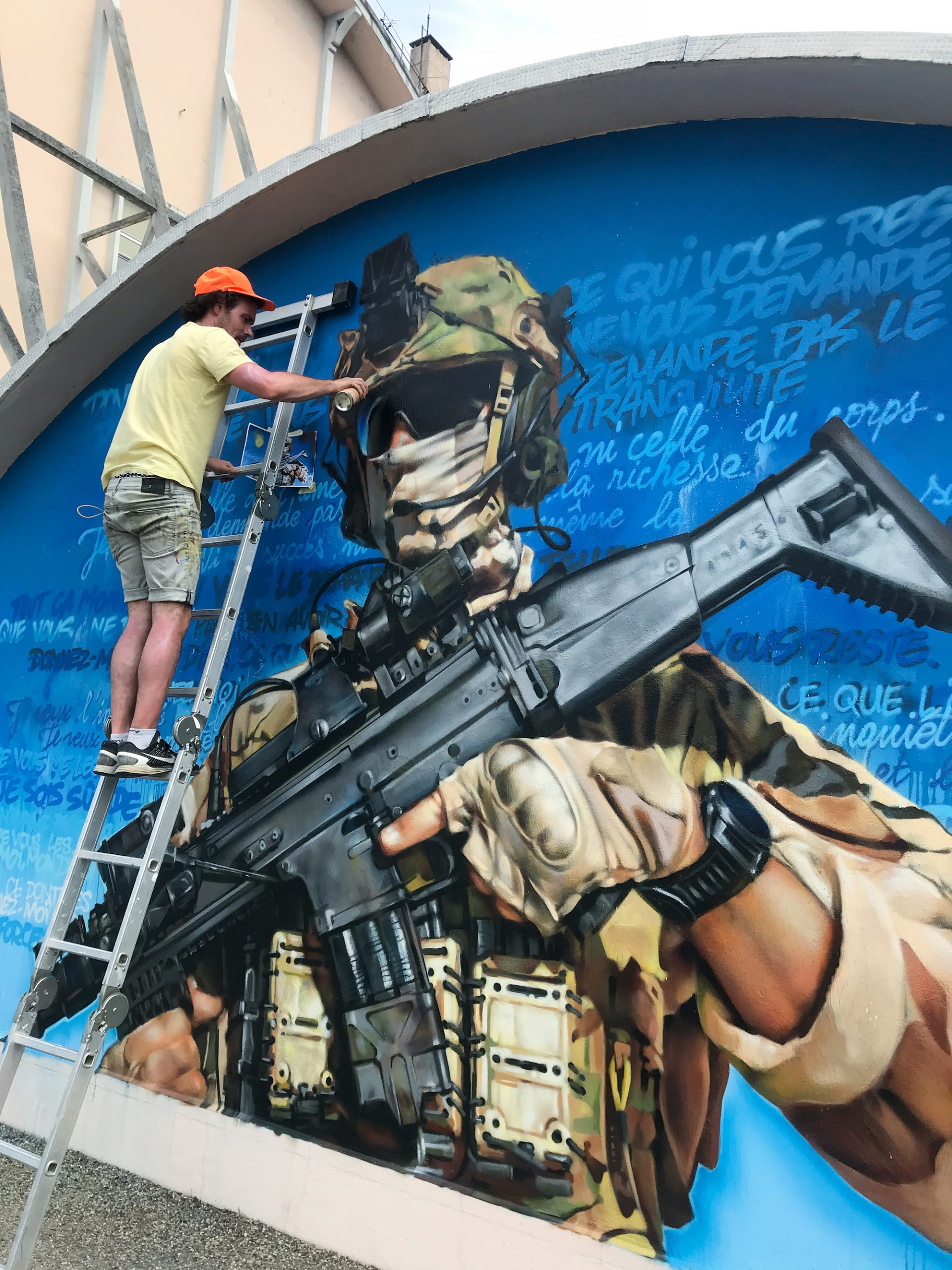 fresque-graffiti-parachutiste-commando