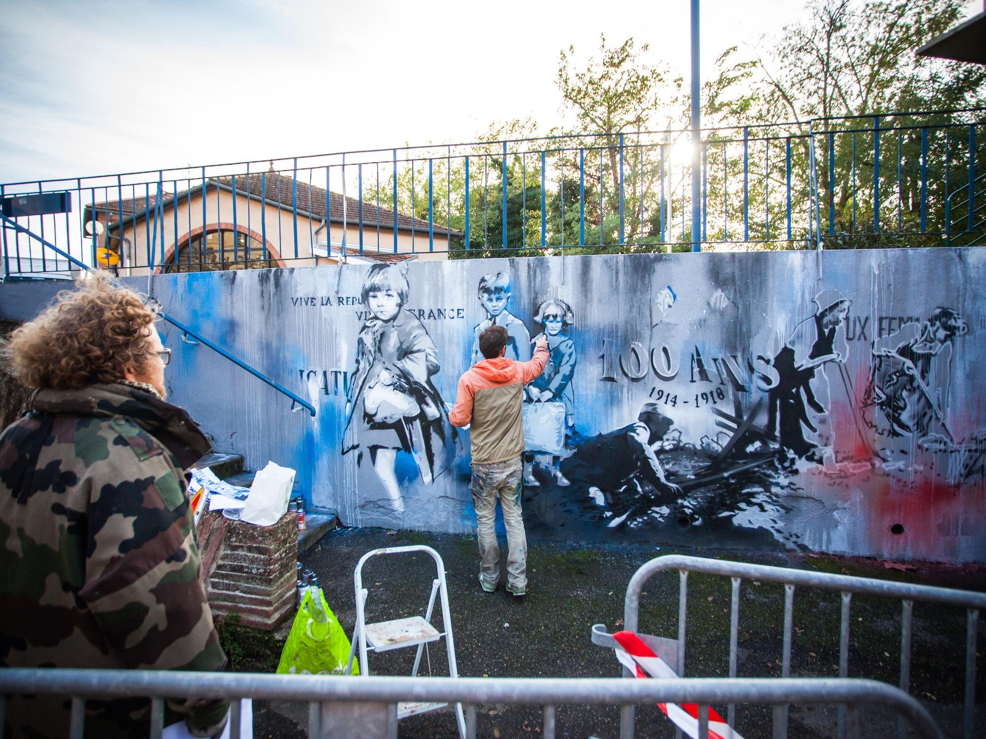 fresque-hommage-guerre-Verdun-sur-garonne-100ans
