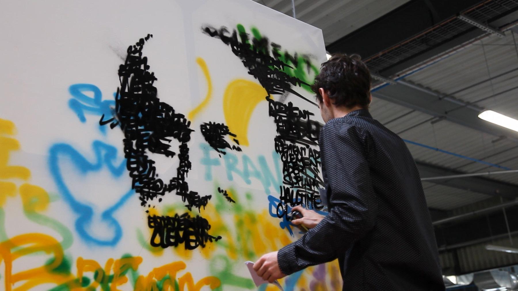 performance artistique live painting graffiti toulouse graffeur