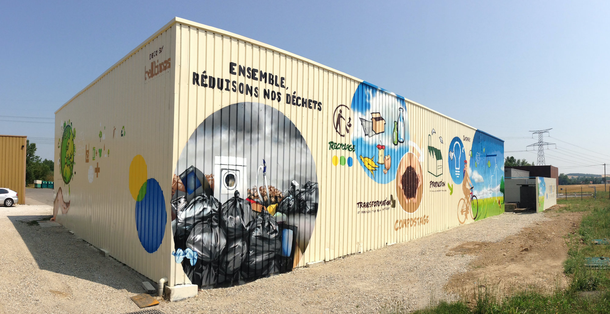 SMIVOM Miremont fresque communication environnement dechets artiste halltimes