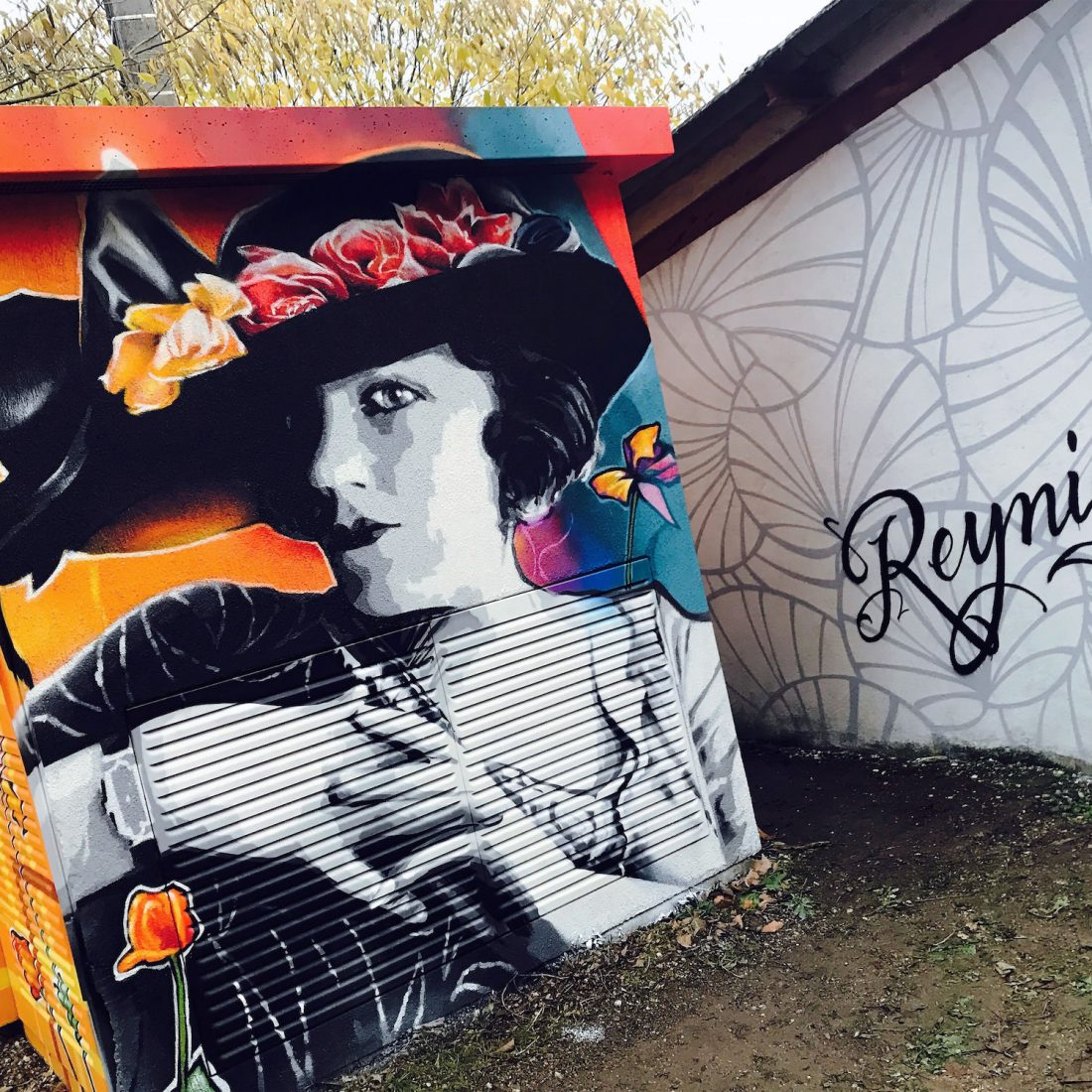 graffiti transformateur reynies