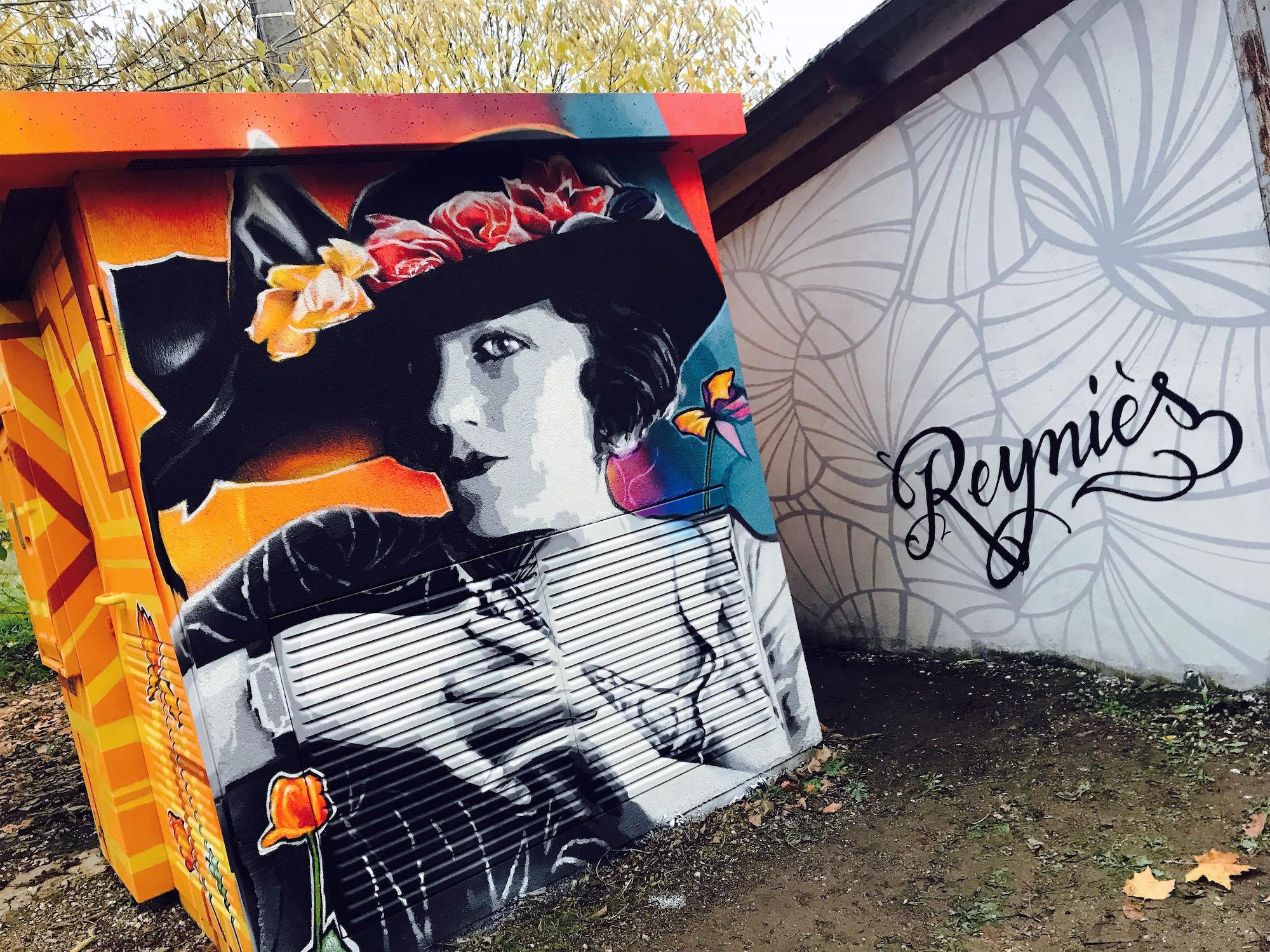 graffiti transformateur reynies