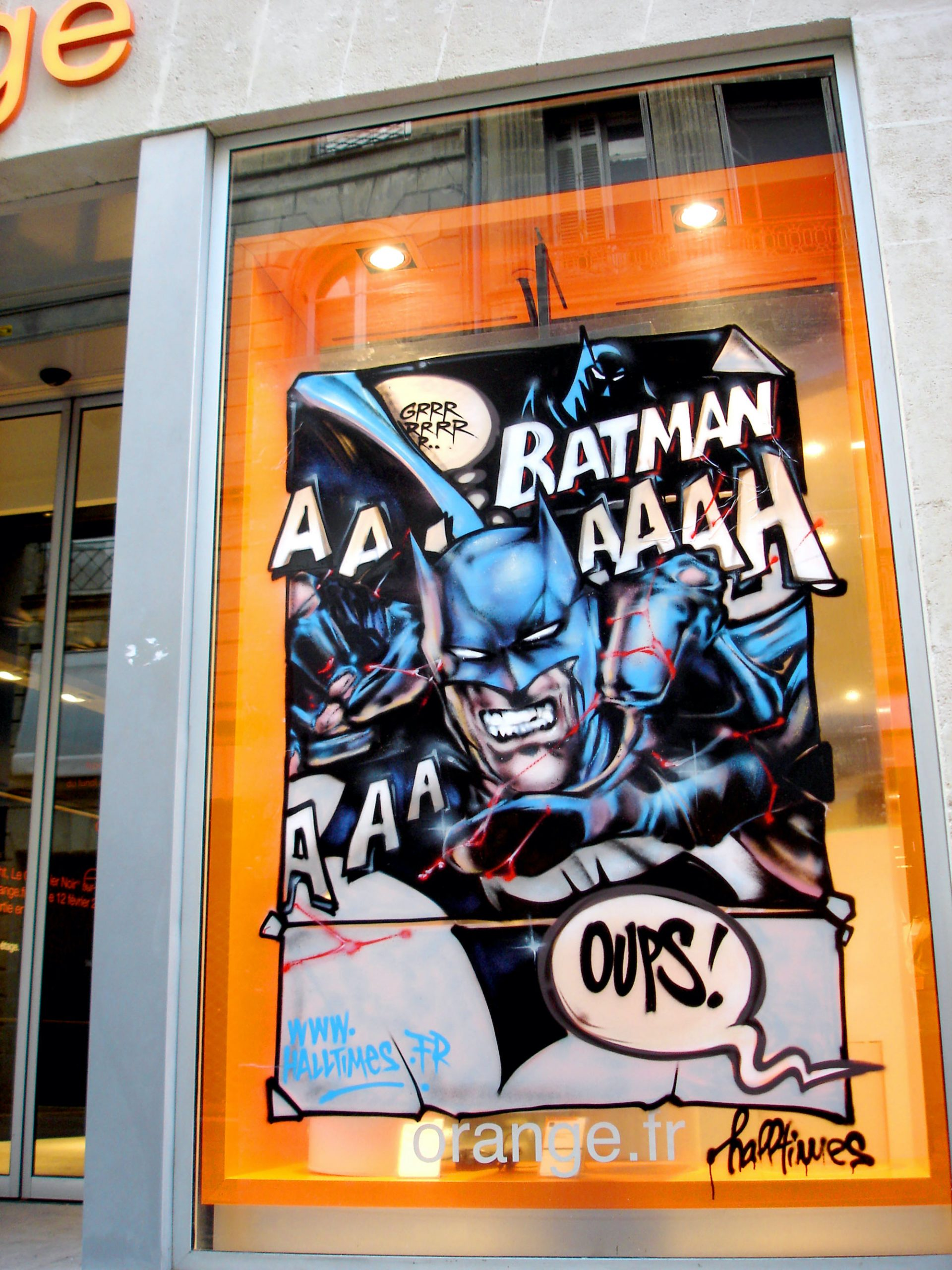 graffeur vitrine decoration graffiti livepainting