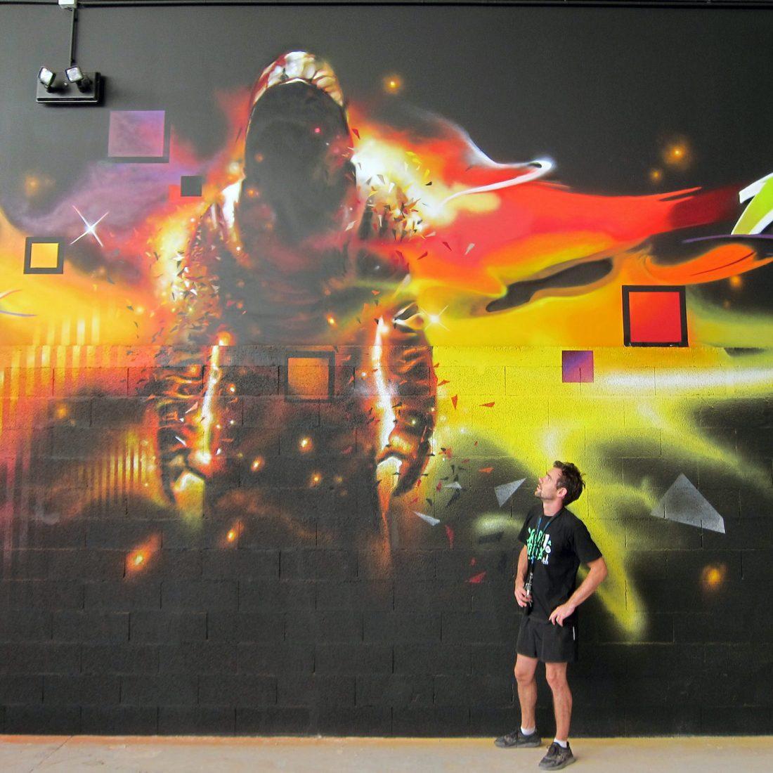 Fresque graffiti tag graff artiste graffeur toulouse