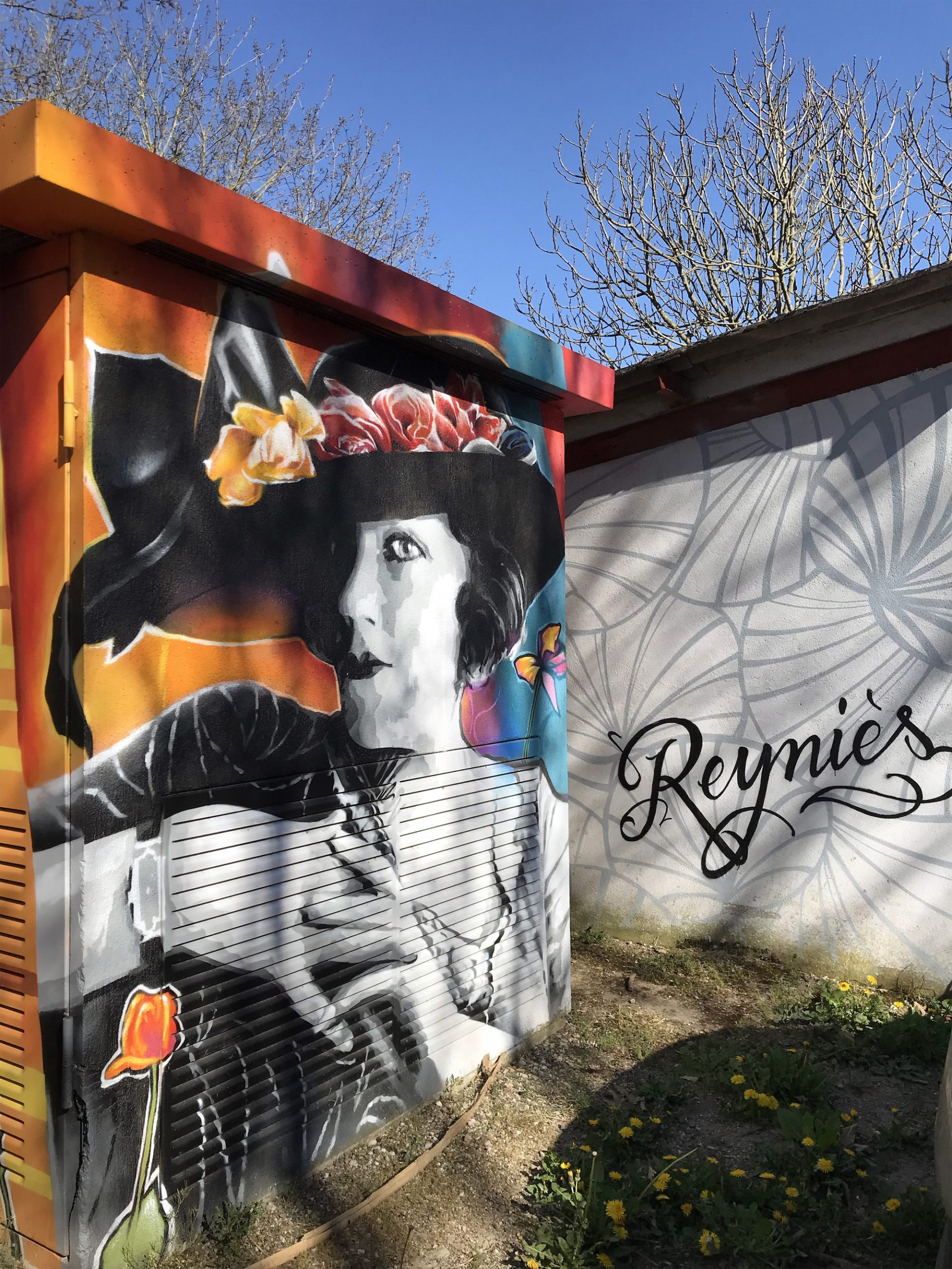 Reynies transformateur art nouveau graffiti