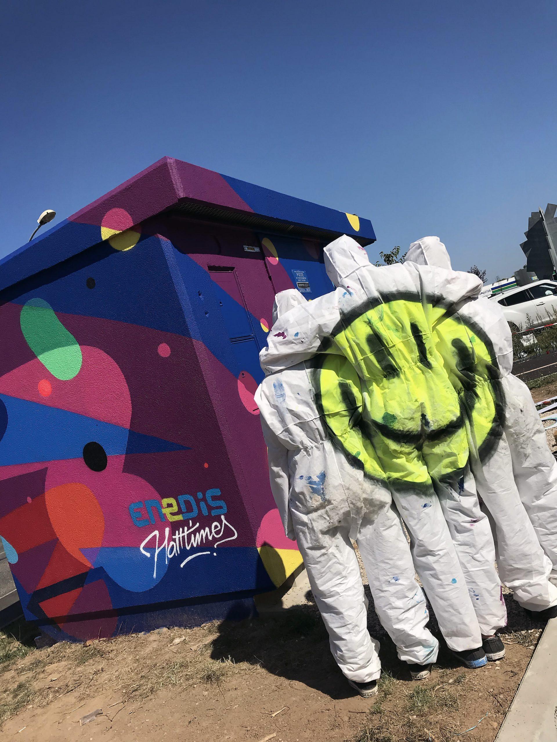 Transformateur graffiti chantier jeunes initiation graffeur montauban atelier