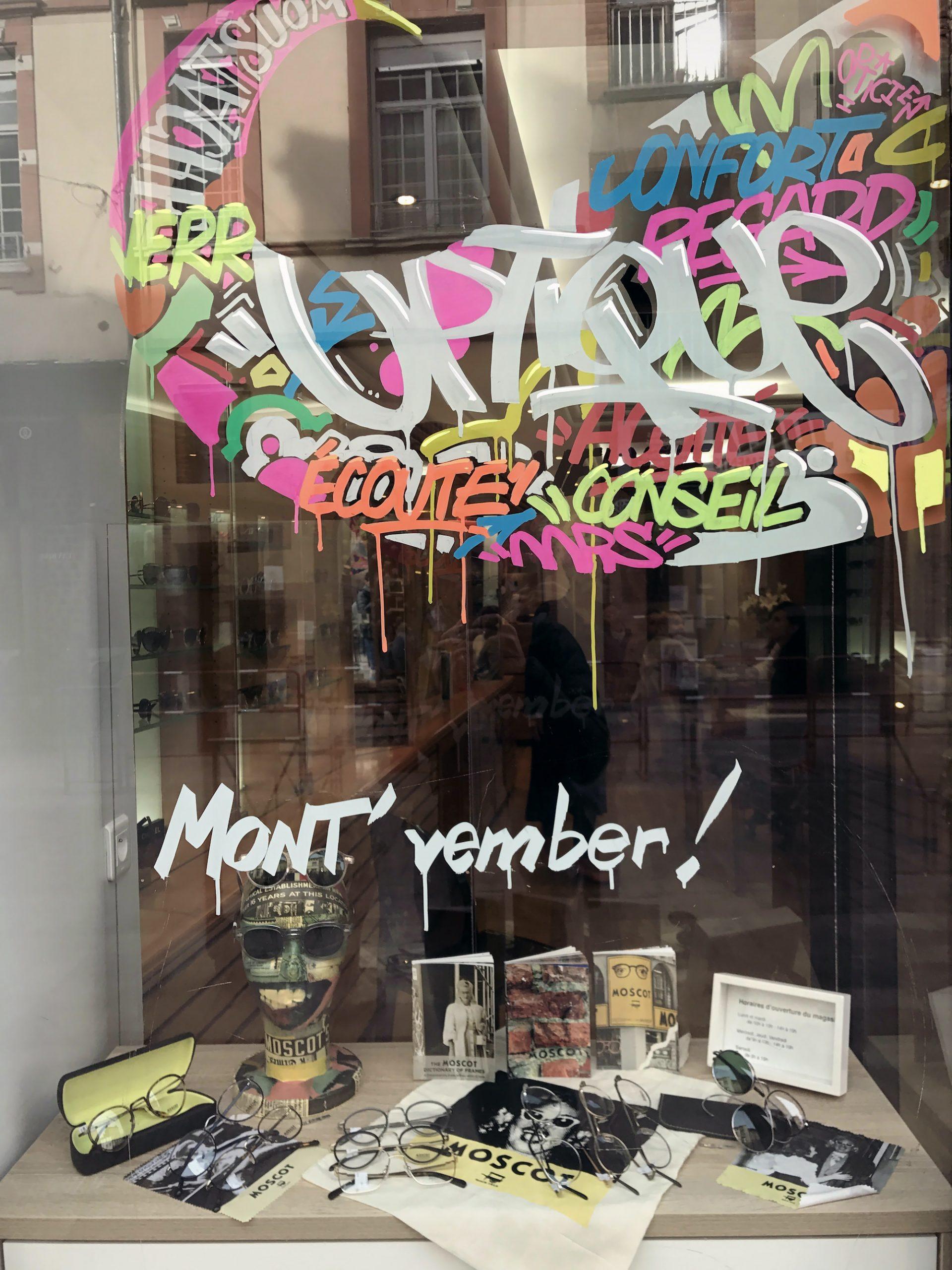 decoration graffiti event movember
