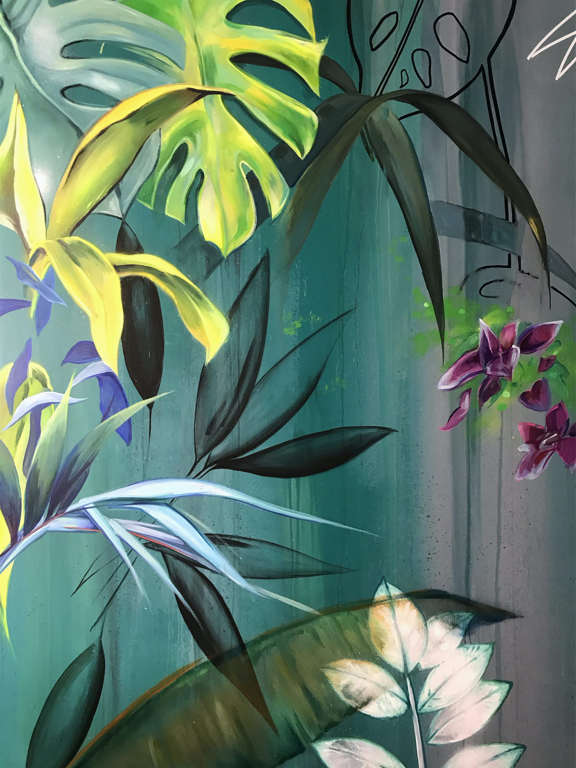 detail-Vegetal-dessin-mural-decor-paint-wall