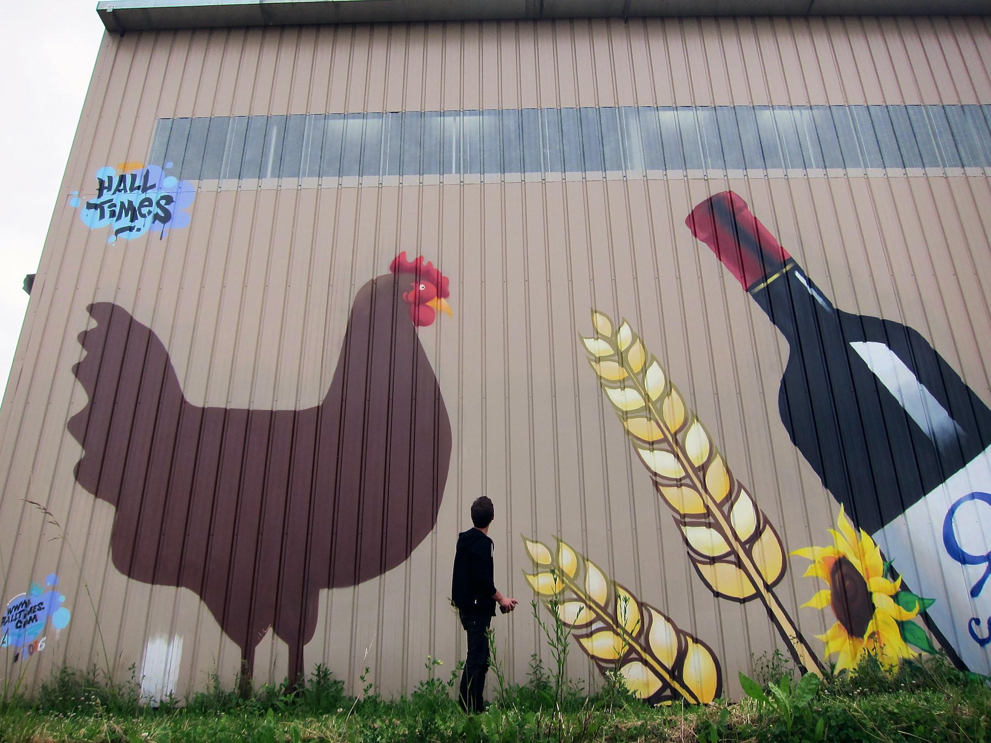 fresque agricole vin vigneron agriculture decoration cuma tarnetgaronne montauban