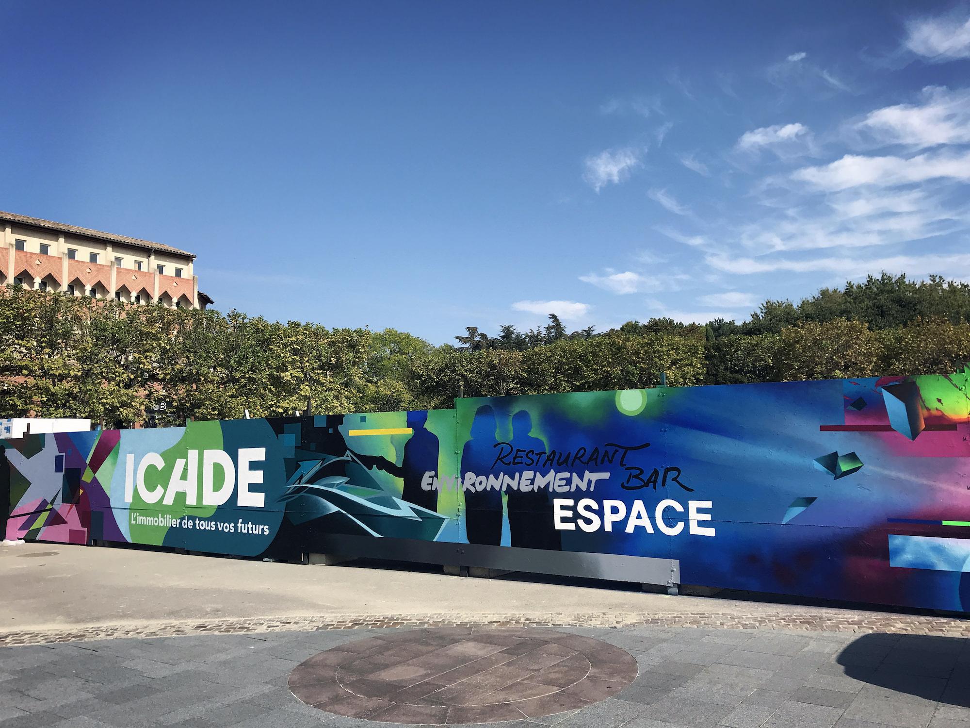 fresque streetart immobilier graffiti toulouse icade halltimes