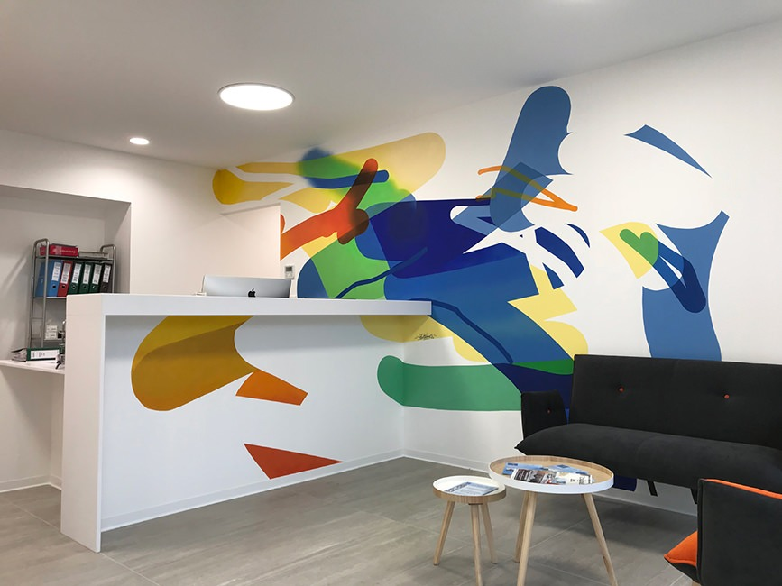 fresque streetart moderne agencement decorateur interieur toulouse halltimes
