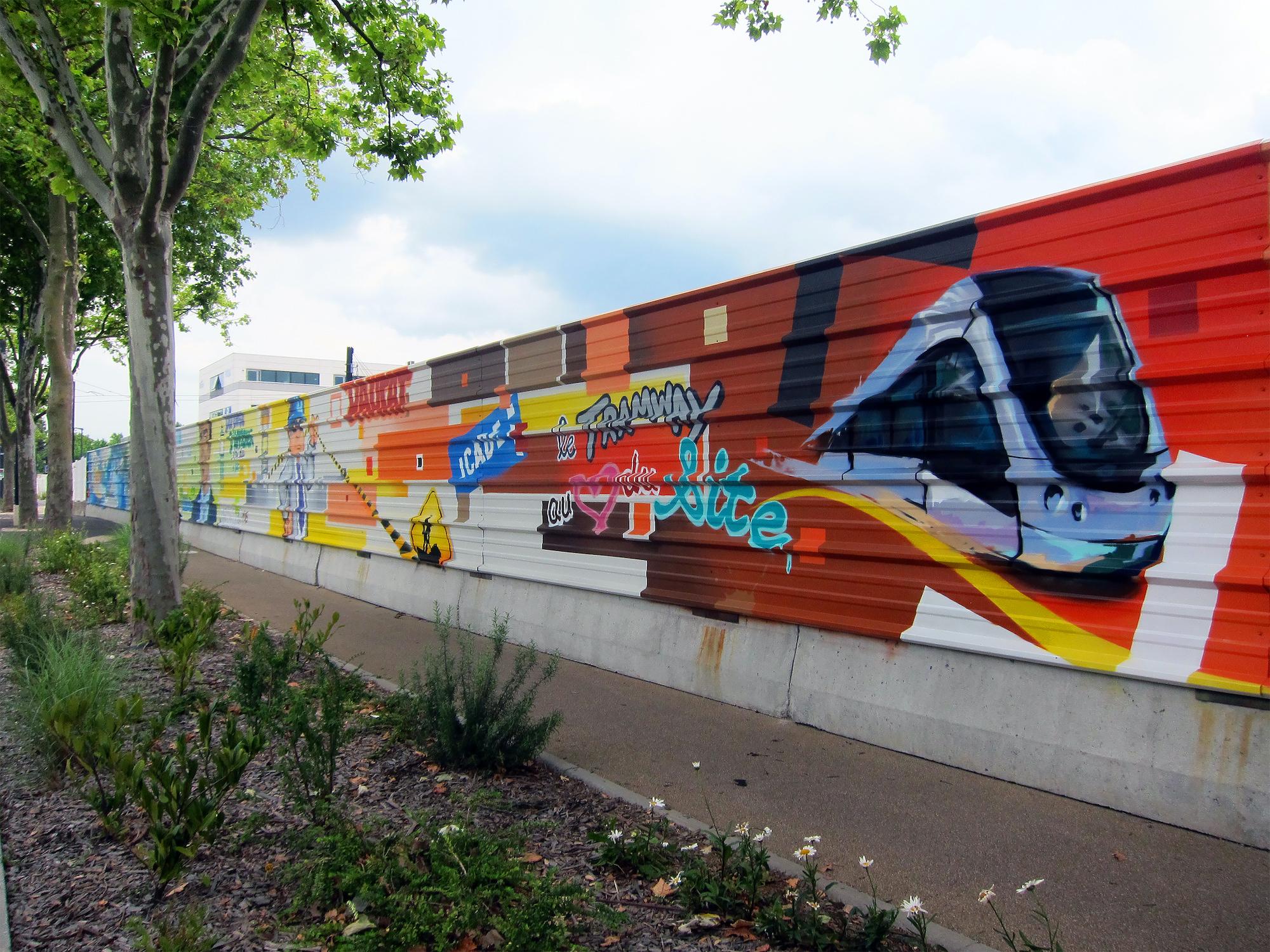 palissade chantier icade blagnac travaux graffiti graffeurs toulouse