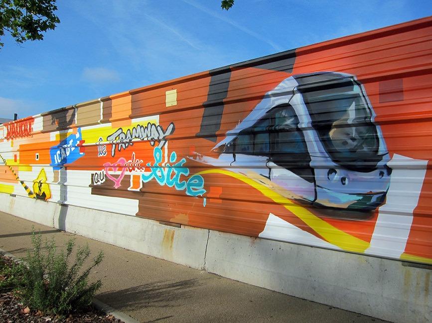 palissade chantier toulouse graff fresque artiste graffeurs toulouse