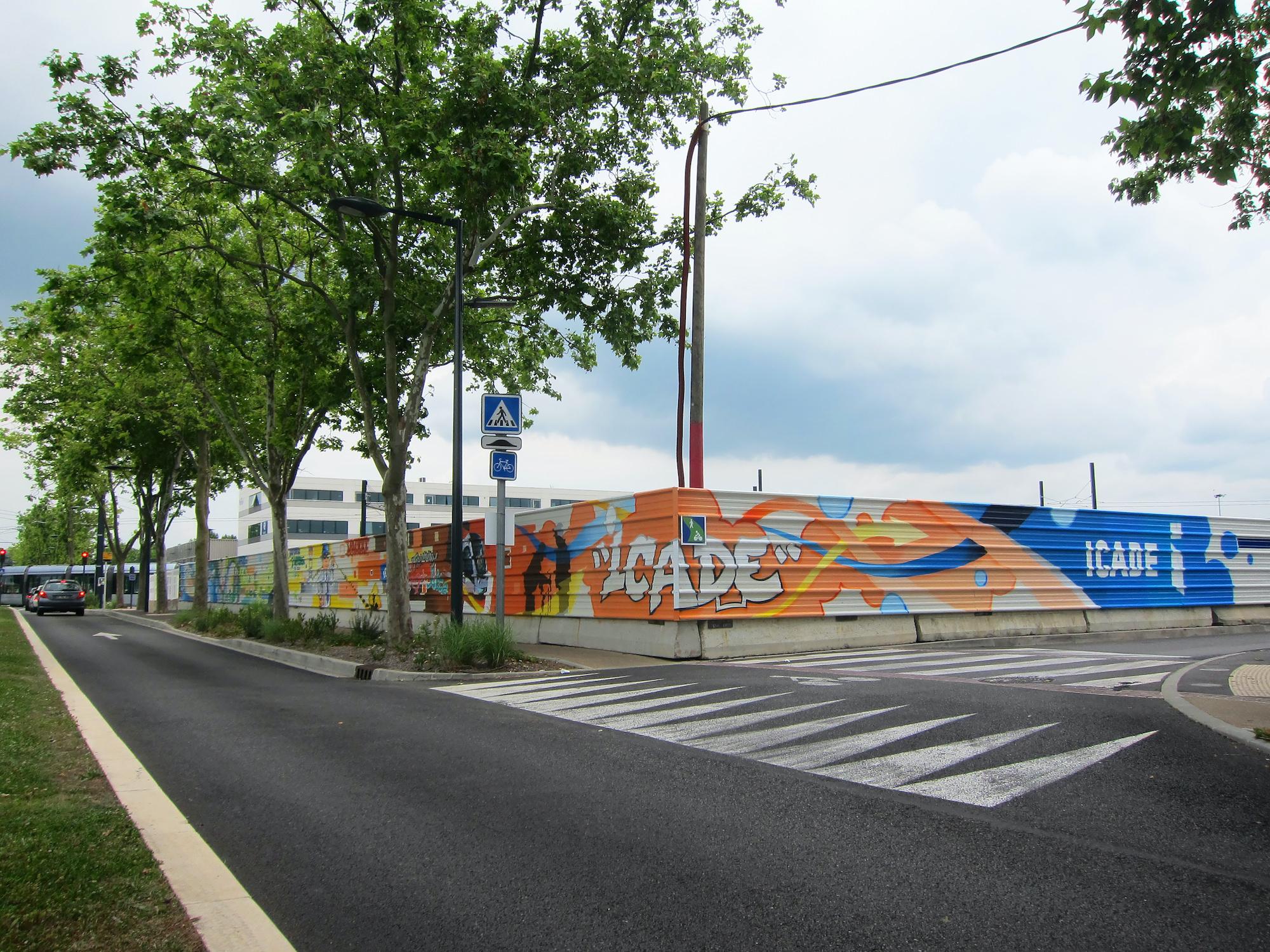 palissade graffiti chantier blagnac halltimes icade