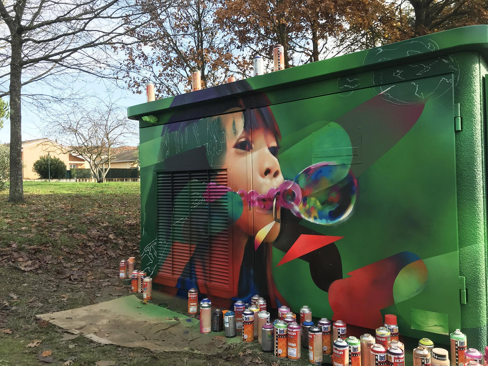 graffiti fresque transformateur grisolles graffeur toulouse montauban occitanie