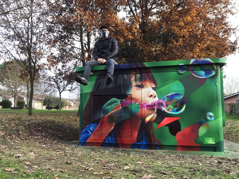 transformateur streetart grisolles graffeur toulouse