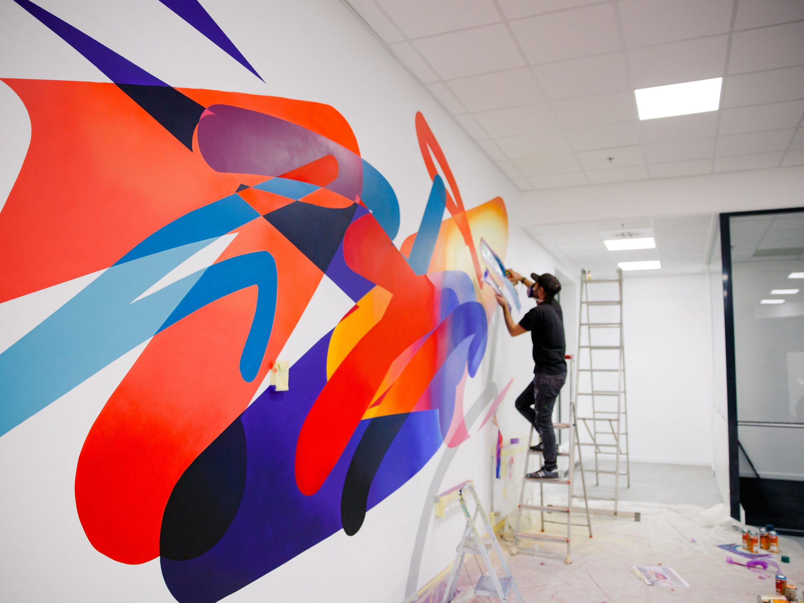 action-painting-graffiti-fresque-halltimes-graffeur-toulouse-lagencedecomm